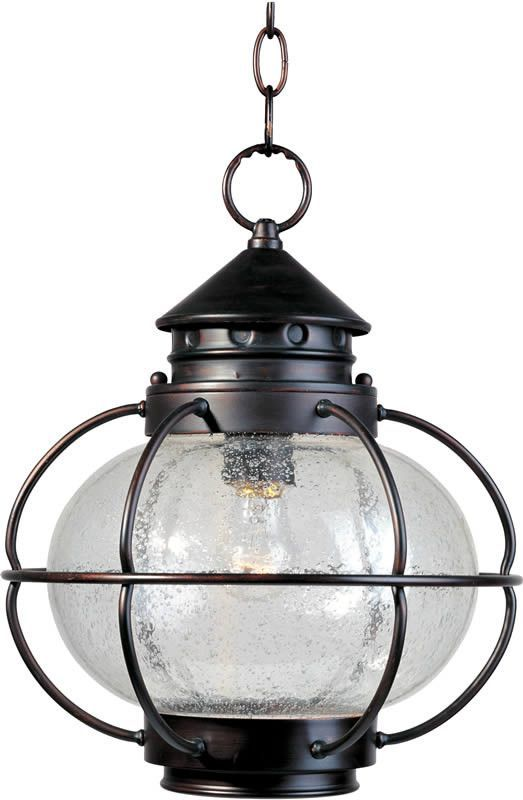 """0-004693>12""""""""w Portsmouth 1-Light Outdoor Hanging Lantern Oil Rubbed Bronze"""