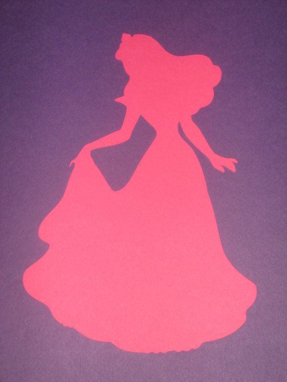 Princess Sleeping Beauty Silhouettes for framing birthday parties – Sleeping Beauty Party Invitations
