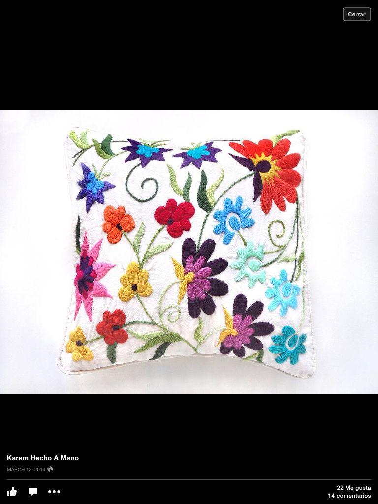 Almohadón   bordados   Pinterest   Embroidery, Ideas para and ...