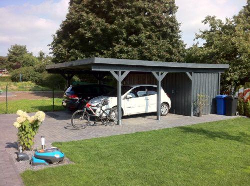 Unser Traum Vom Haus Carport Mit Schuppen Haus Carport Mit Abstellraum