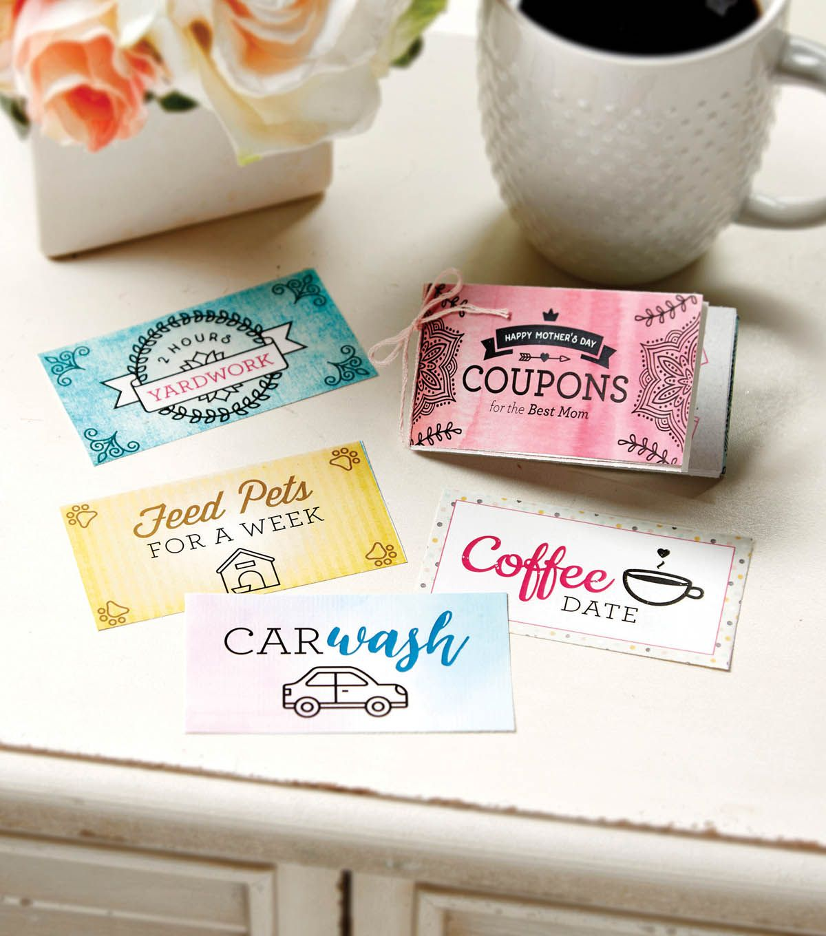 Give mom aborable IOU coupons this Mother's Day. | Printable Mother's Day  Coupons  Diy Mothers Day GiftsDiy ...