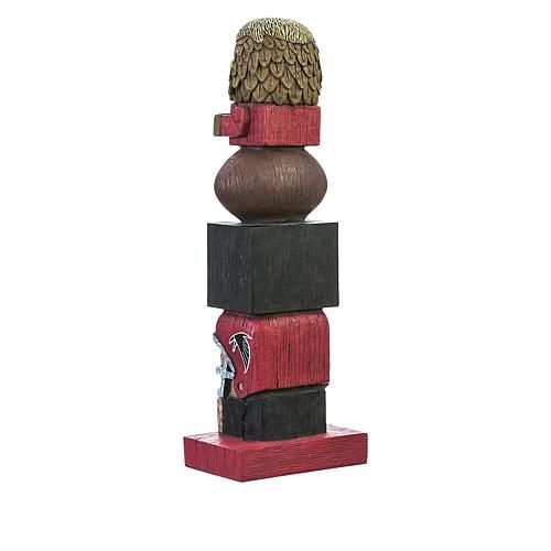 Officially Licensed NFL Tiki Totem Garden Statue Your team's going to be on top this year! Inspired by the original Hawaiian-style tiki totems, this hand-painted, officially licensed NFL totem makes a perfect gift for the die-hard fan. From the mascot top to the player base and everything in between, your friends and neighbors will be begging to know just where you got this unique product. What You Get NFL tiki totem garden statue