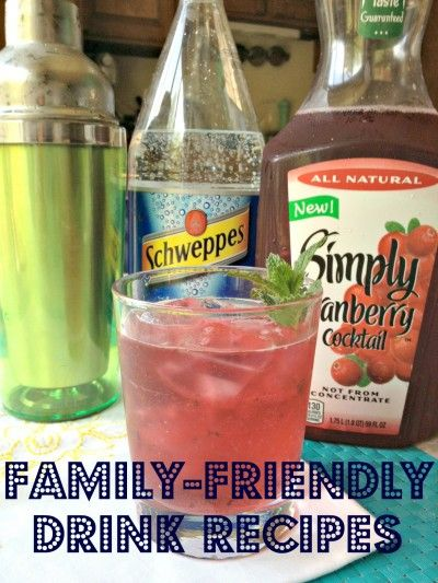 A bunch of family friendly (no alcohol) drink recipes.