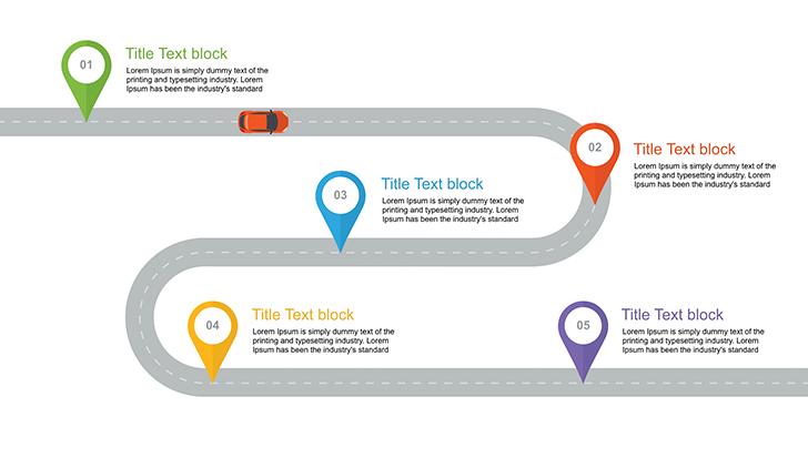 roadmap template ppt free productivity pinterest templates