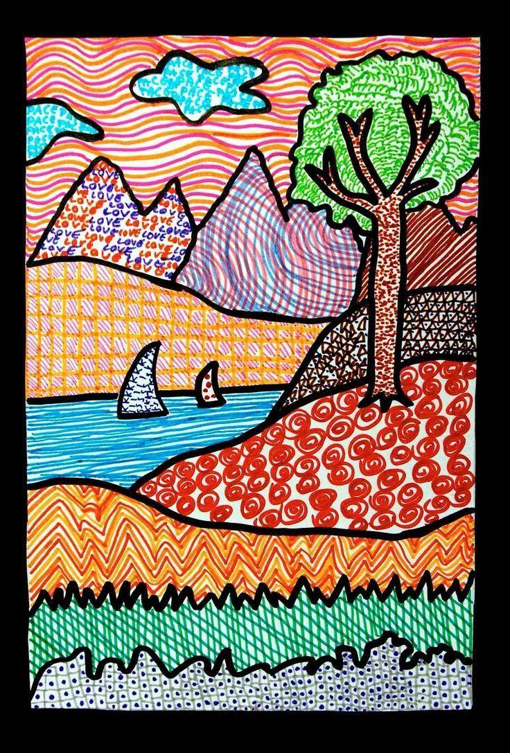 Landscapes Of Texture Fine Art Drawing Kids Art Projects Art