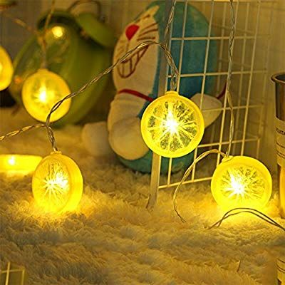 Novelty Lemon Fairy Lights with 20 LED Battery Operated