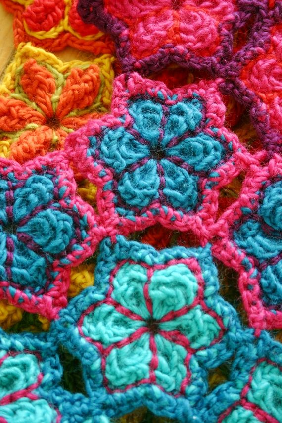 colorful crochet patterns | ... crochet goal for 2013. The pattern ...