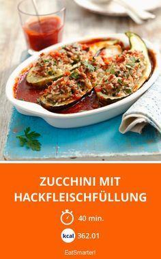 Zucchini mit Hackfleischfüllung  smarter  Kalorien 36201 kcal  Zeit 40 Min
