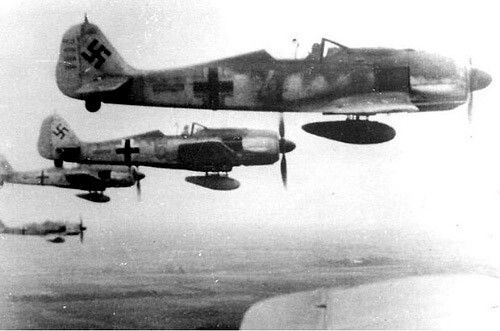 Fw-190 A in action