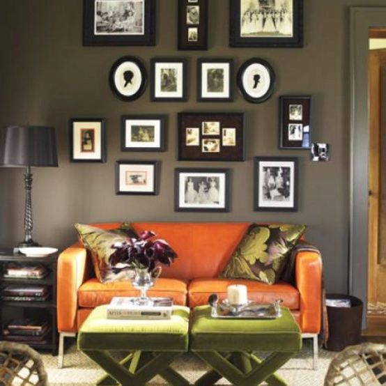 Delightful Decorating A Hunter Green Living Room Images