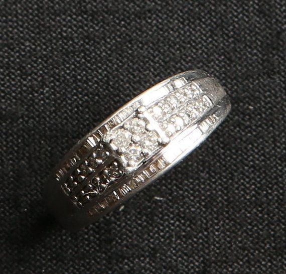 1950's Genuine Diamonds Sterling Silver by GwendalysaArts on Etsy