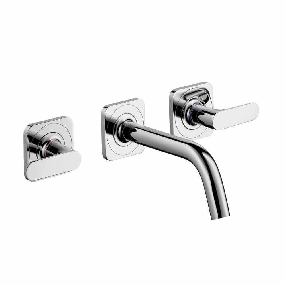 Hansgrohe Axor Citterio M Wall Mounted 3 Piece Basin Mixer Basin