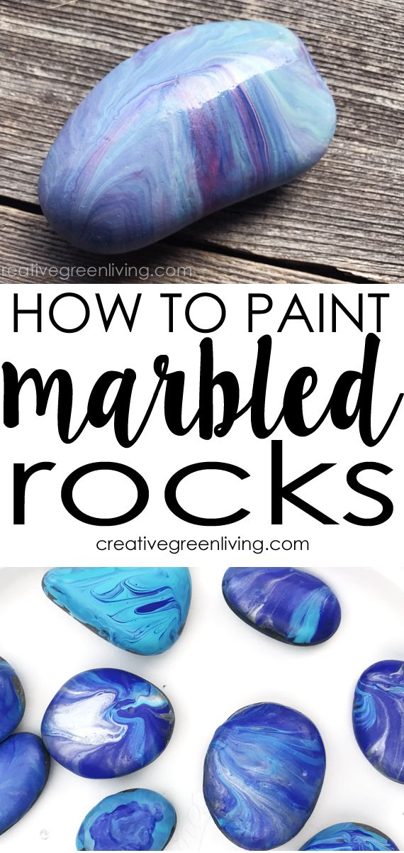 How To Paint Rocks With A Marbleized Finish Rock