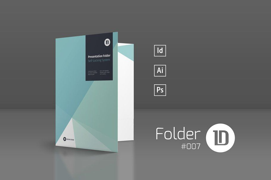 Ad: Presentation Folder Template 007 by ID Vision Studio on Creative Market. ---...