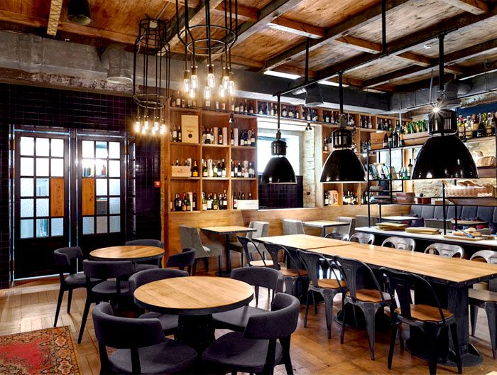 Bottega wine and tapas by kley design studio bar restaurant design tapas restaurant tapas - Bar cuisine studio ...