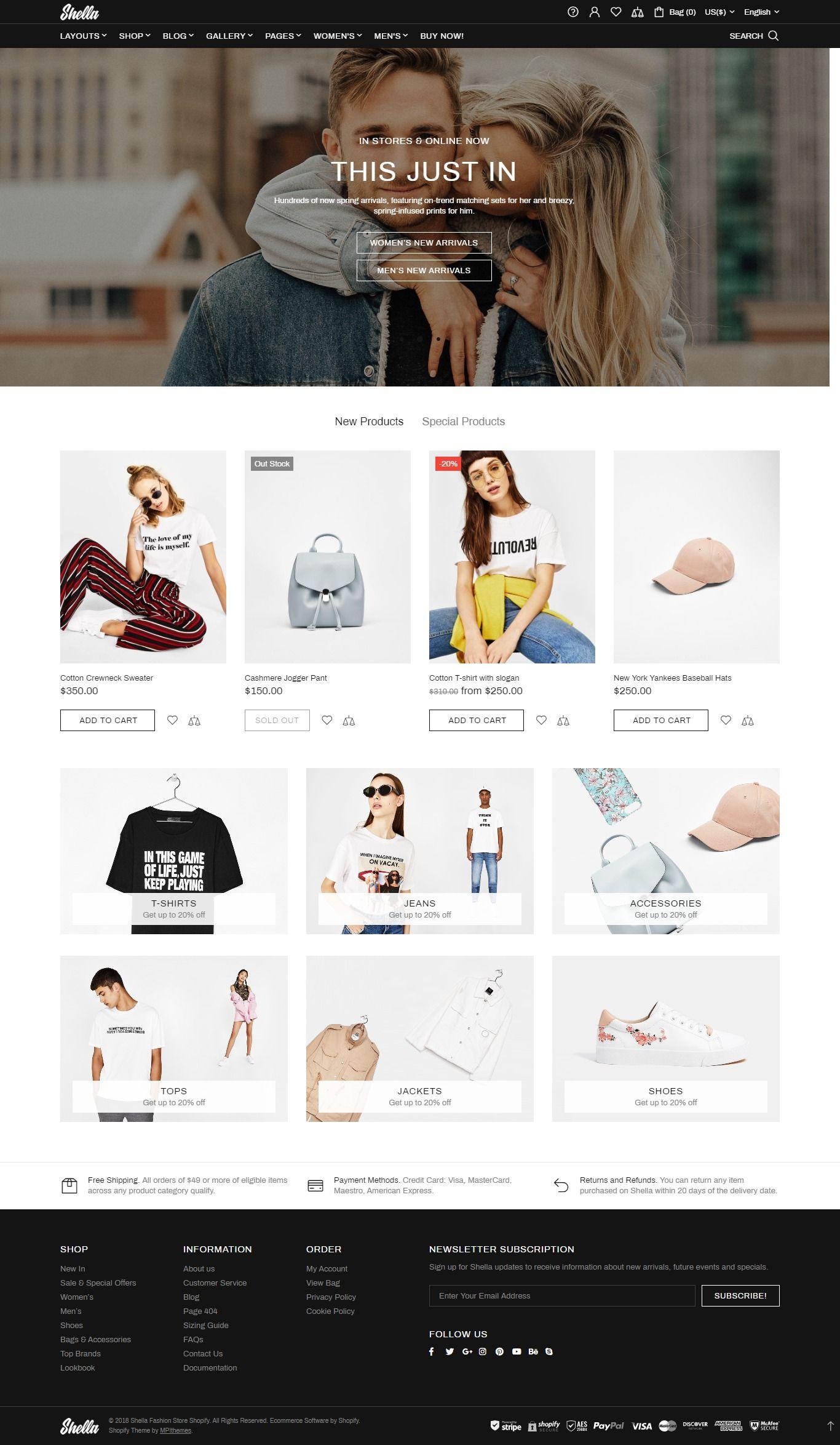 Shella - Ultimate Fashion Responsive Shopify Theme | Shopify Themes