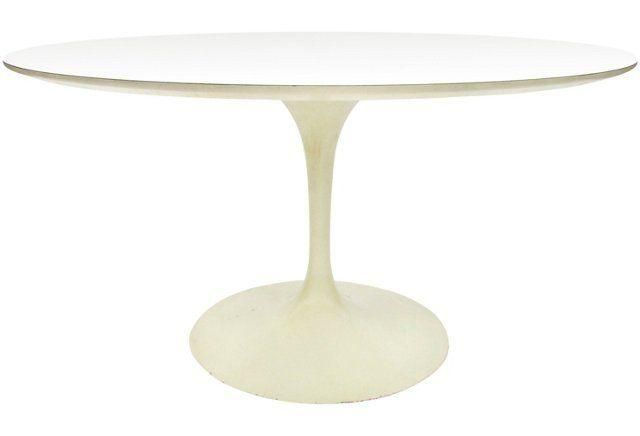 Saarinen For Knoll Round Tulip Table Original Production Saarinen - Original tulip table