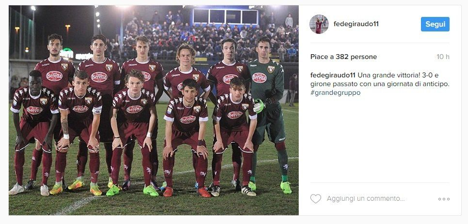 Viareggio Cup: i granata passano il turno e festeggiano su Instagram https://t.co/Ynlfl3lDkB Daniele Delbene https://t.co/7aPwNGcbeB