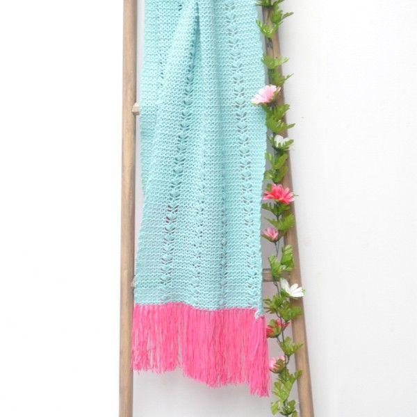 Haakpatroon Cool Wool zomersjaal | Crochet | Pinterest