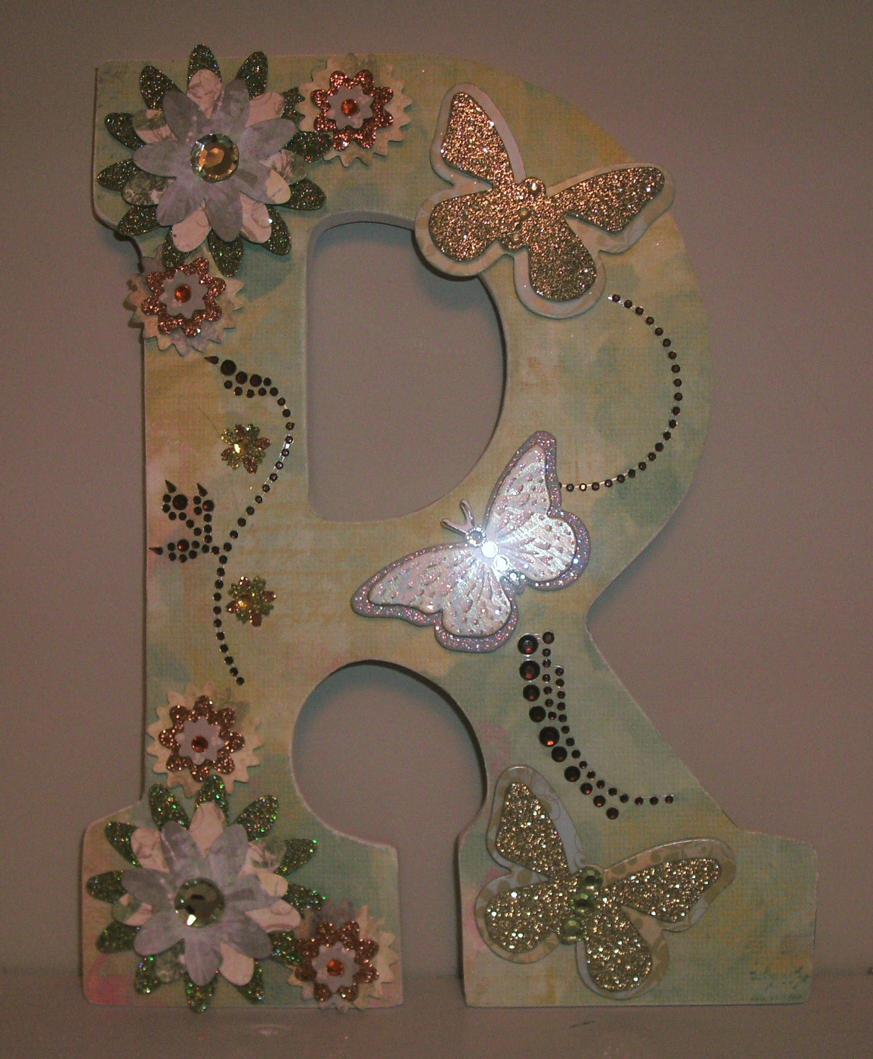 Wooden letters for crafts - Embellished Wood Letters Name Word Letter Craft Granddaughters Had Fun Making Their Own