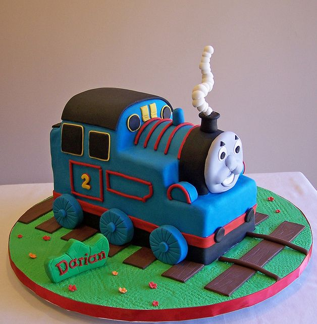 Swell Thomas The Tank 3D Cake Thomas Cakes Little Girl Cakes Cake Funny Birthday Cards Online Sheoxdamsfinfo