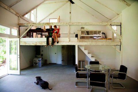 Garage home pinterest mezzanine garage loft and lofts for Garage mezzanine ideas