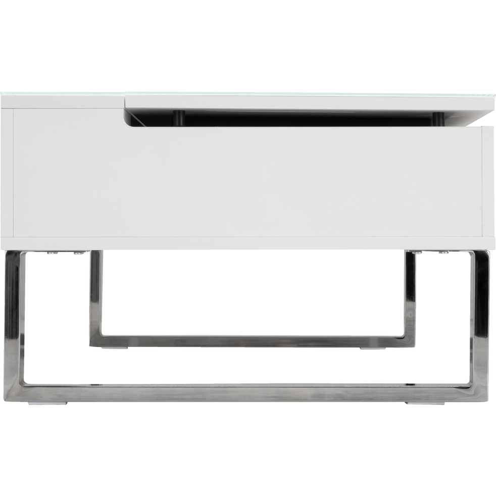 Table Basse Blanche Avec Tablette Relevable Alinea In 2020 Decor Home Decor Desk