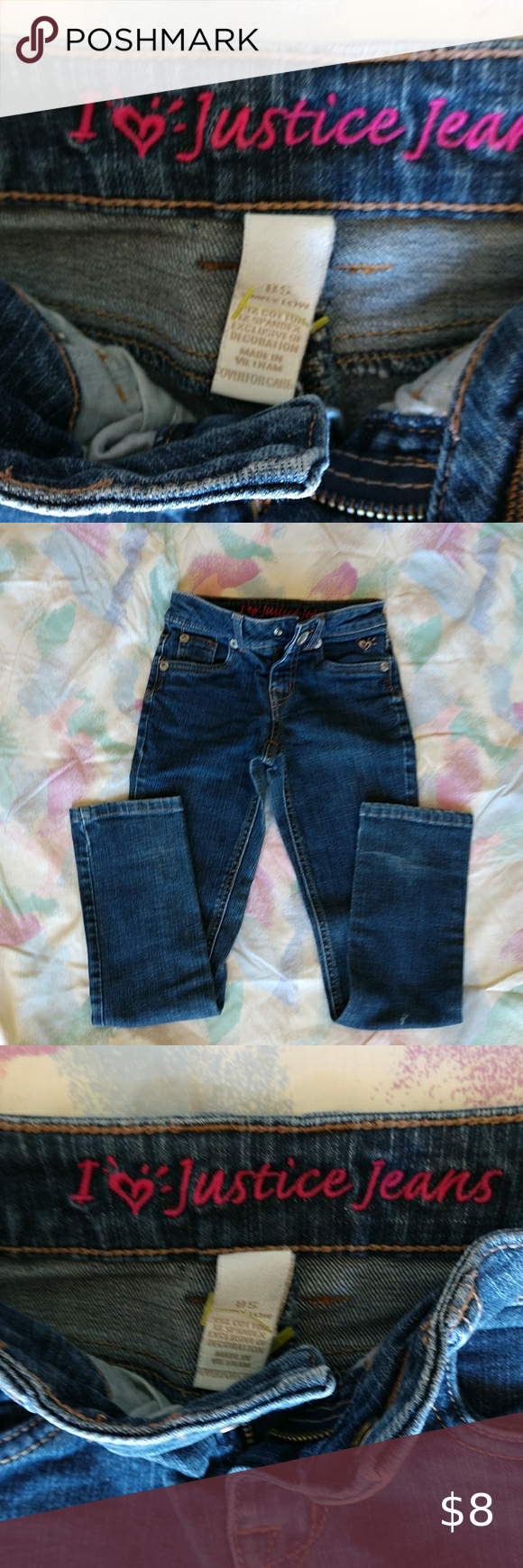 I Love Justice Jeans Girls Skinny Jeans Size 8 S Girls Skinny Jeans Girls Jeans Skinny Jeans