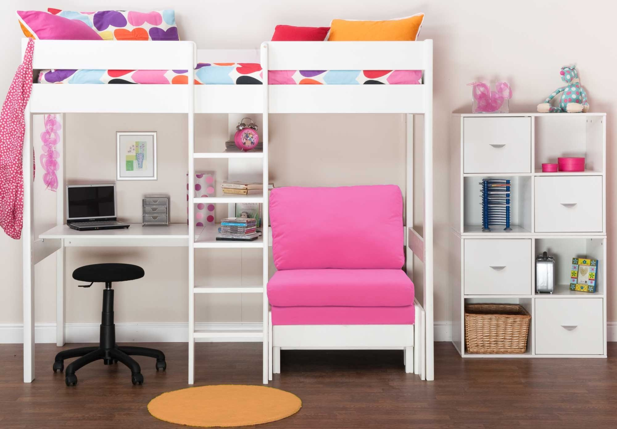Amazing Bed In Nero With Desk And Pull Out Chairbed Stompa Kool Gmtry Best Dining Table And Chair Ideas Images Gmtryco