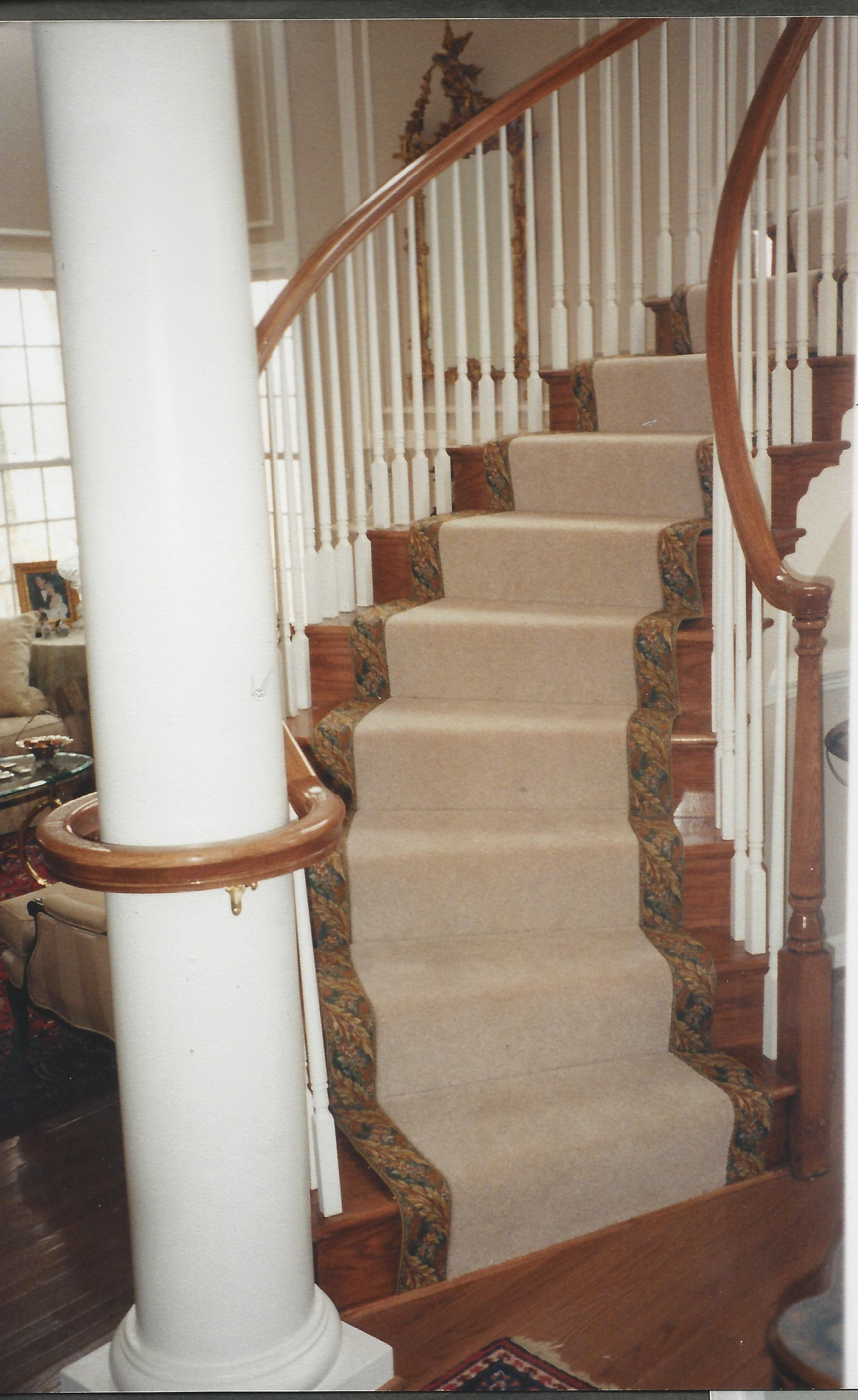 Best Stair Carpet Runner With Tapestry Border On Pie Shaped 400 x 300
