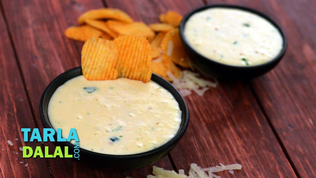 Quick Cheese Dip by Tarla Dalal