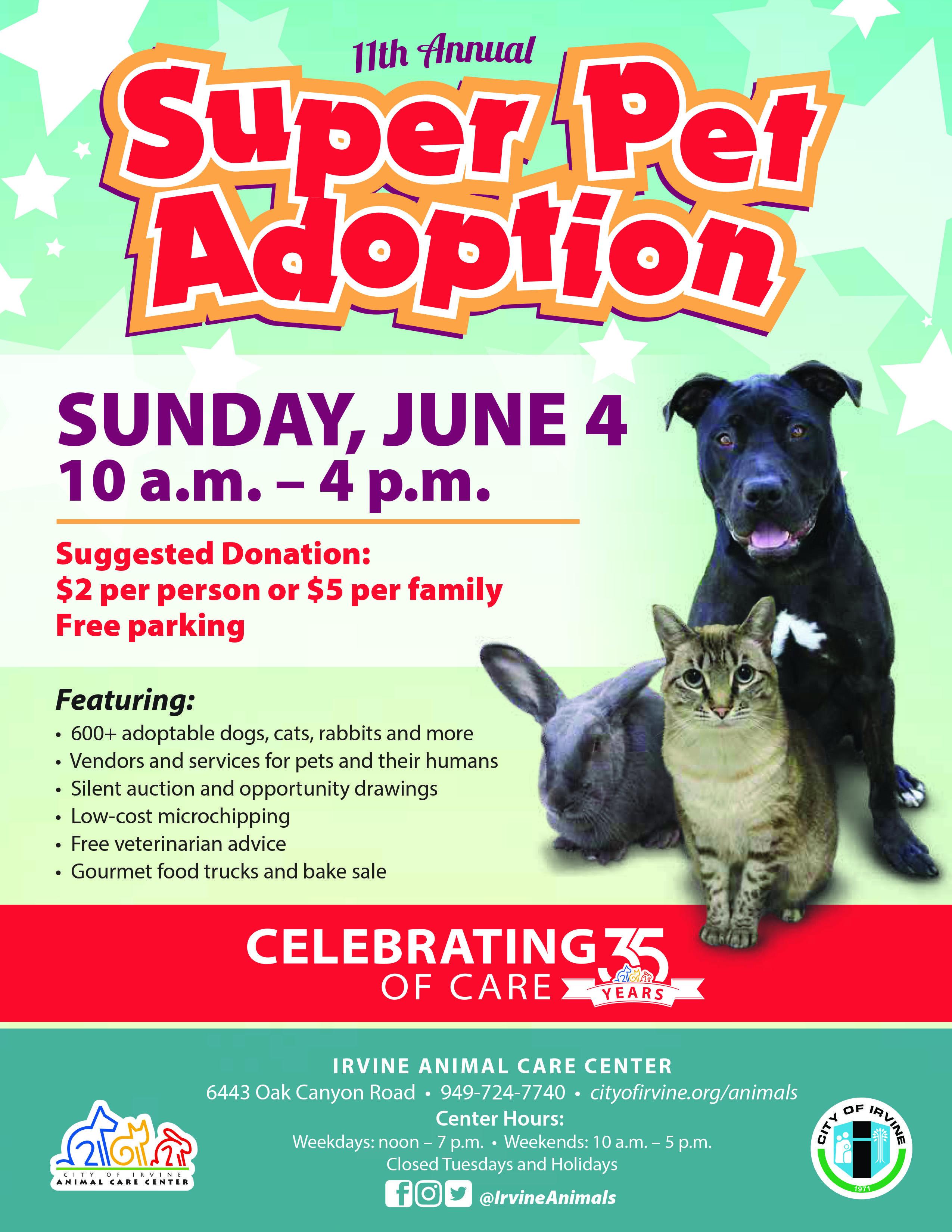 Super Pet Adoption (With images) Pet adoption event, Pet