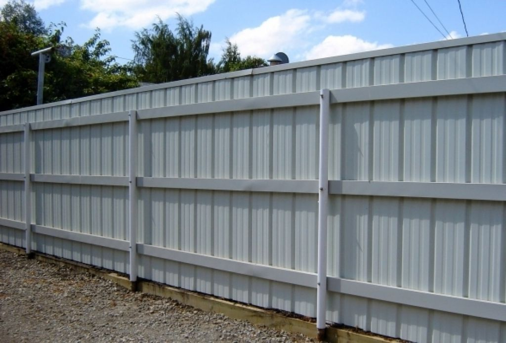 Sheet Metal Fence Panels Ideas Corrugated Intended For Decorations
