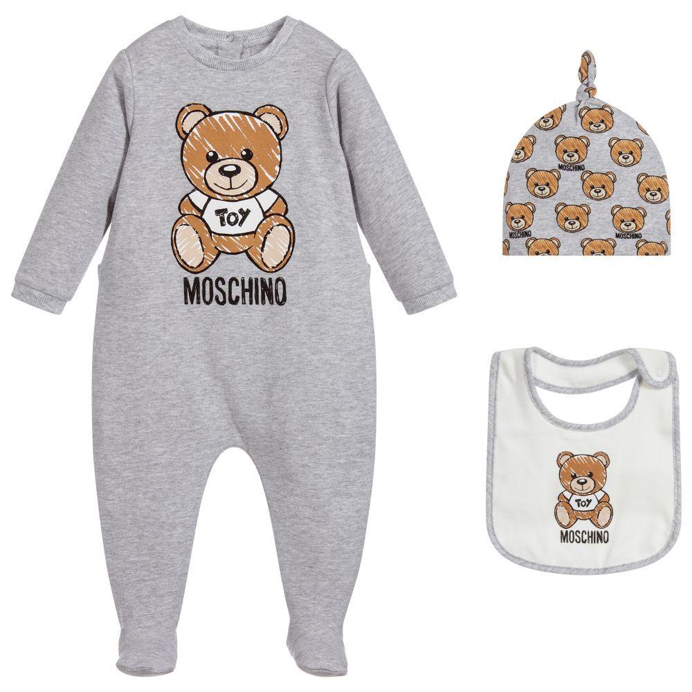 8de6cc113666 Moschino Baby - Unisex Babysuit Gift Set