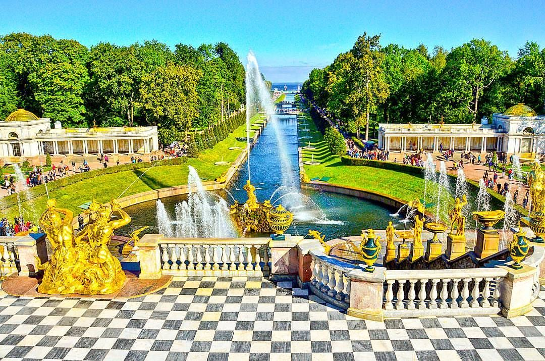 Peterhof Palace, St. Petersburg, Russia. One of the grandest palaces I've been to. If given a chance, I'd still love to go back to this place. I didn't have the chance to explore this outdoor that time I was here. I love this place.    instagram: @queenetjuin   Around the world. Lonely Planet. Places to Go. Places to See. Travel and Leisure. Travel and Life. Travel and Living. Travel the World.  #peterhofpalace #saintpetersburg #stpetersburg