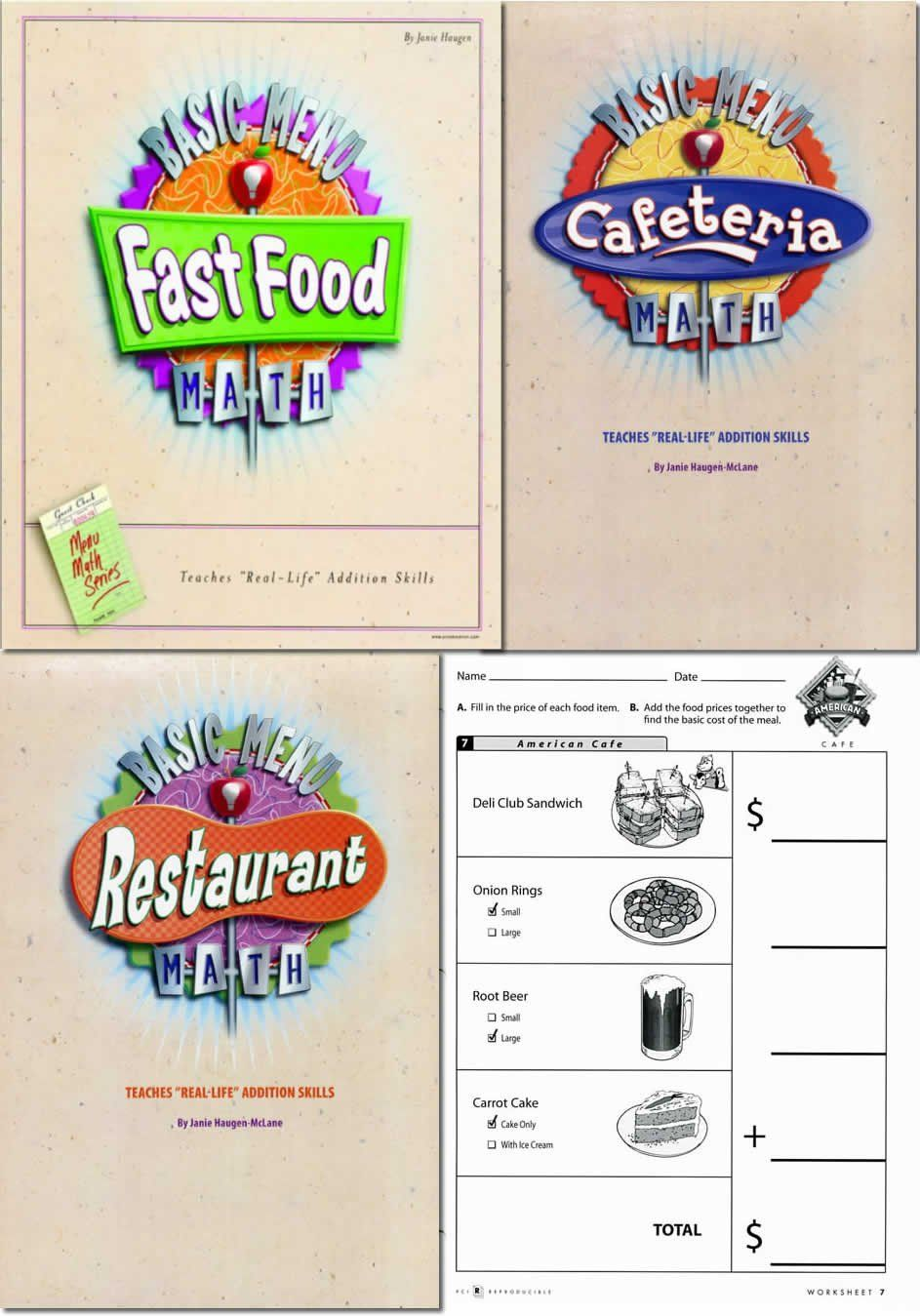 Restaurant Menu Math Worksheets Basic Menu Math In 2020 Kids Math Worksheets Math Worksheets Kindergarten Math Worksheets [ 1349 x 943 Pixel ]