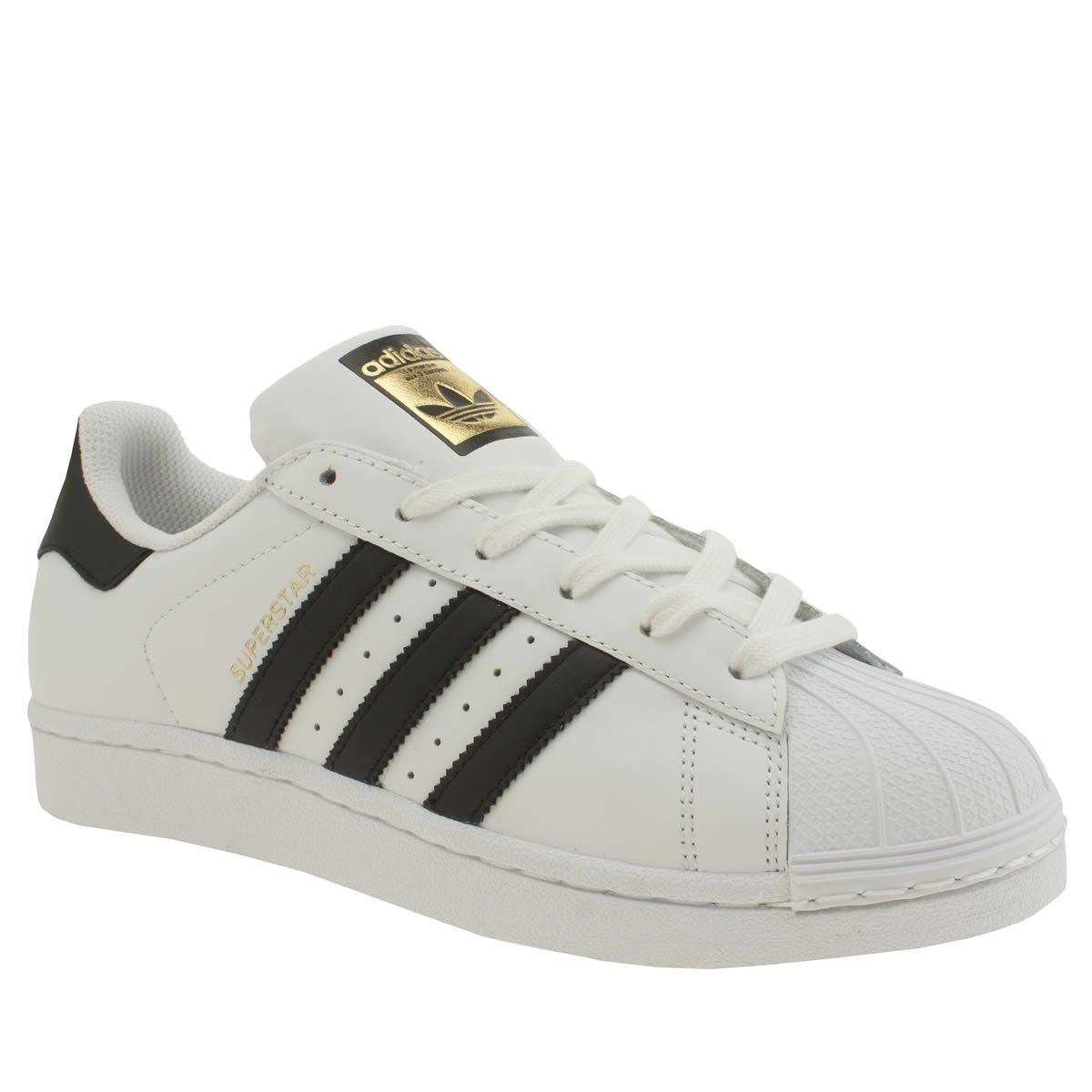 womens adidas white  black superstar foundation trainers