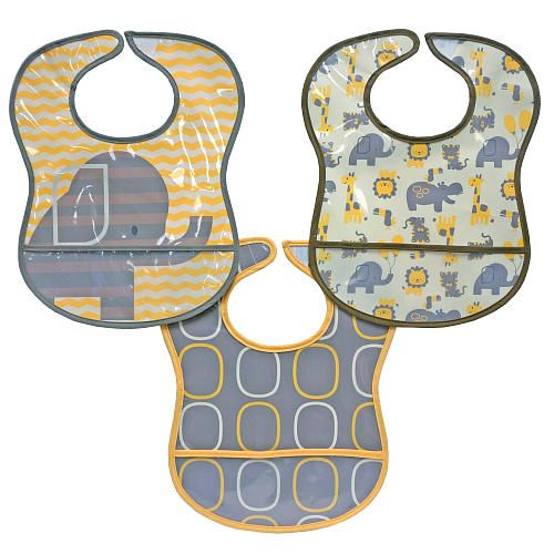 Elephant 3 Pack Peva Bibs Yellow Perfect For Baby At