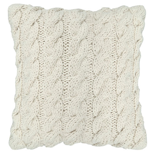 This Knitted Look Cream Throw Pillow Adds A Warm And Comfortable Accent To Your Decor 12in X 12in Throw Pillows Cream Throw Pillows Decorative Toss Pillows
