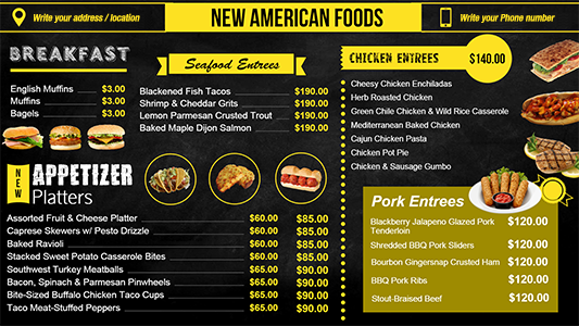 Qsr Menu Boards Template Digital Menu Boards Pinterest Digital