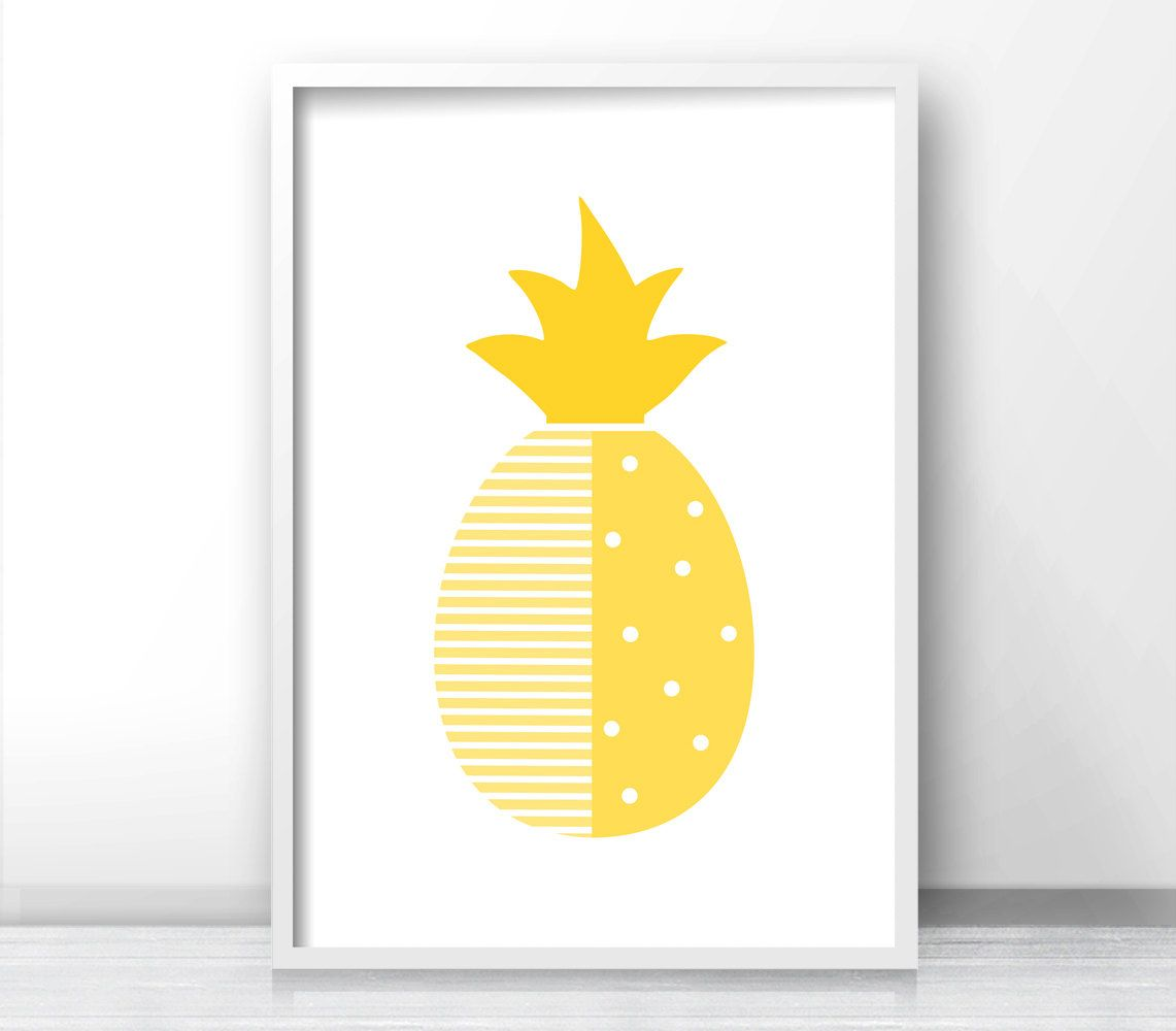 Pineapple Nursery Print Modern Nursery Art by LimitationFree ...