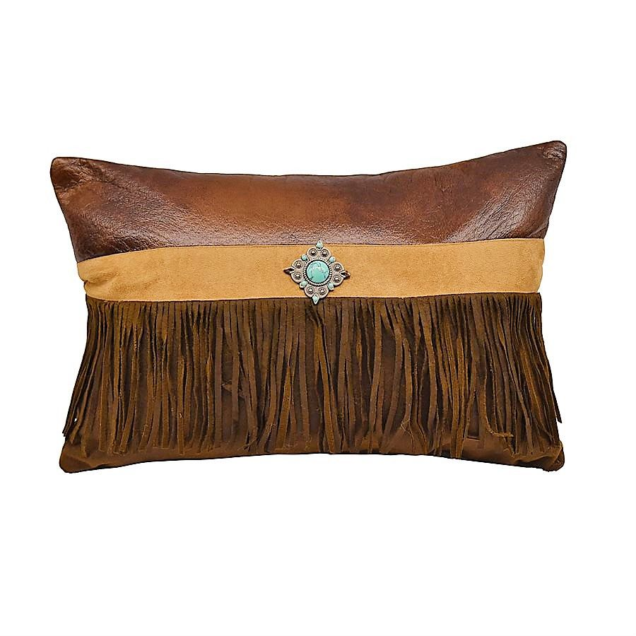 Suede Western Throw Pillow