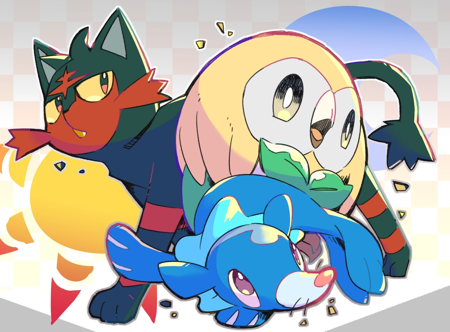 Pokemon coloring pages popplio - Pokemon Coloring Pages Rowlet Litten Rowlet And Popplio
