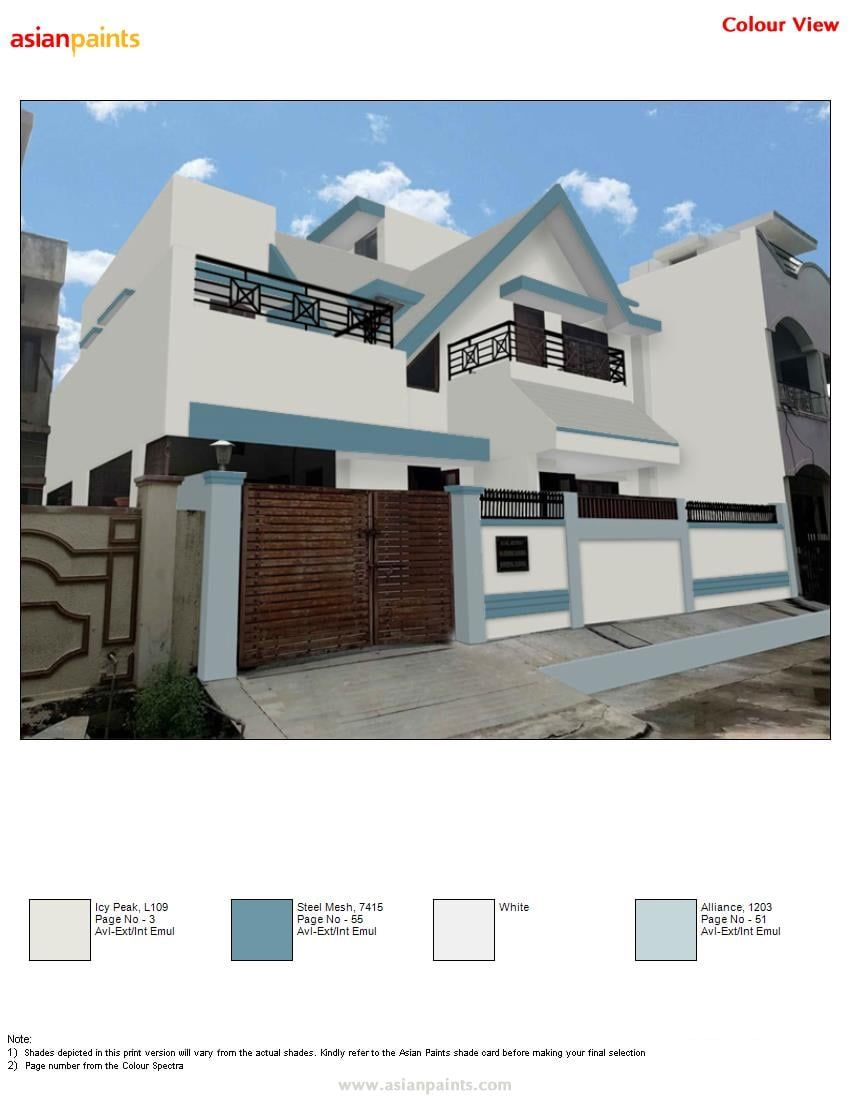 Top 150 Asian Paint Color View Asian Paints Colours Asian Paints House Exterior Color Schemes