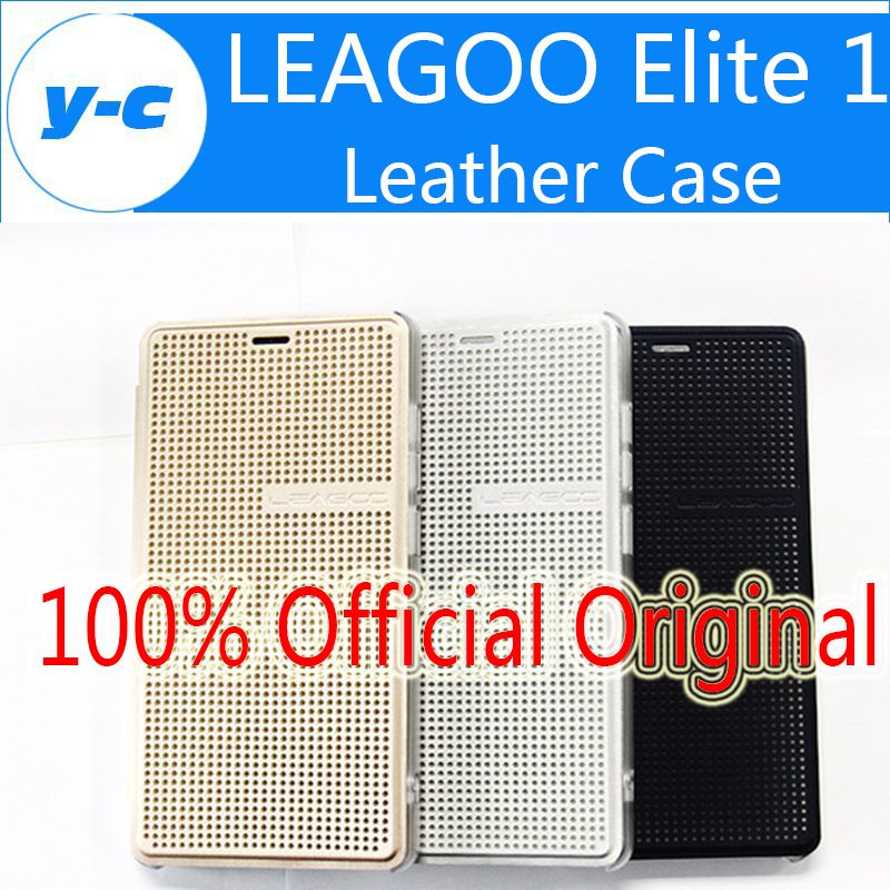 LEAGOO Elite 1 Case New Official Original Protective Shell Leather Flip Cover Back Case For Leagoo Elite 1- Free Ship In Stock