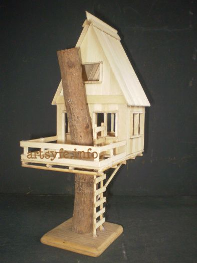 Craft stick house projects