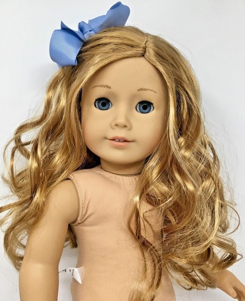 Details About American Girl Doll Light Skin Blonde Hair W Bangs