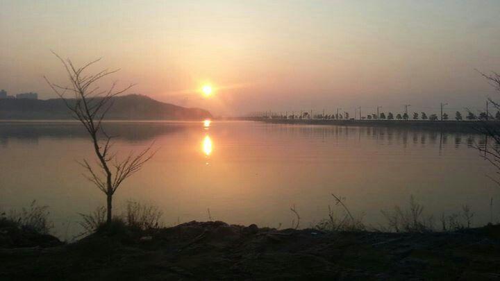 Sunrise at Incheon,  South Korea