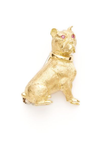 df53e2c909ad8 Tiffany & Co. Gold Dog Brooch by Tiffany & Co. at Gilt | Tiffany ...