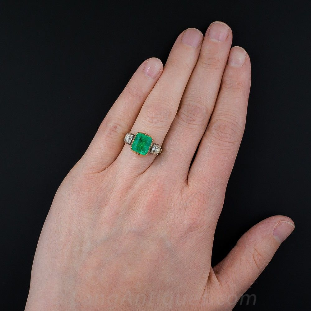 A gorgeous green Colombian emerald, weighing approximately 2.50 ...